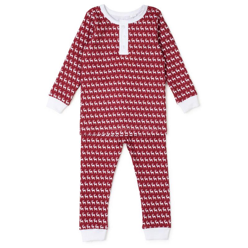 Lila + Hayes Lila + Hayes Red Reindeer Jack Pajamas *PRE-ORDER*