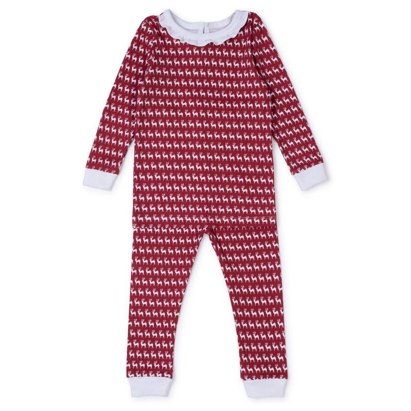Lila + Hayes Lila + Hayes Red Reindeer Ava Pajamas *PRE-ORDER*