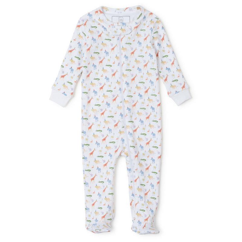 Lila + Hayes Lila + Hayes Party Animals Parker Zipper Pajama