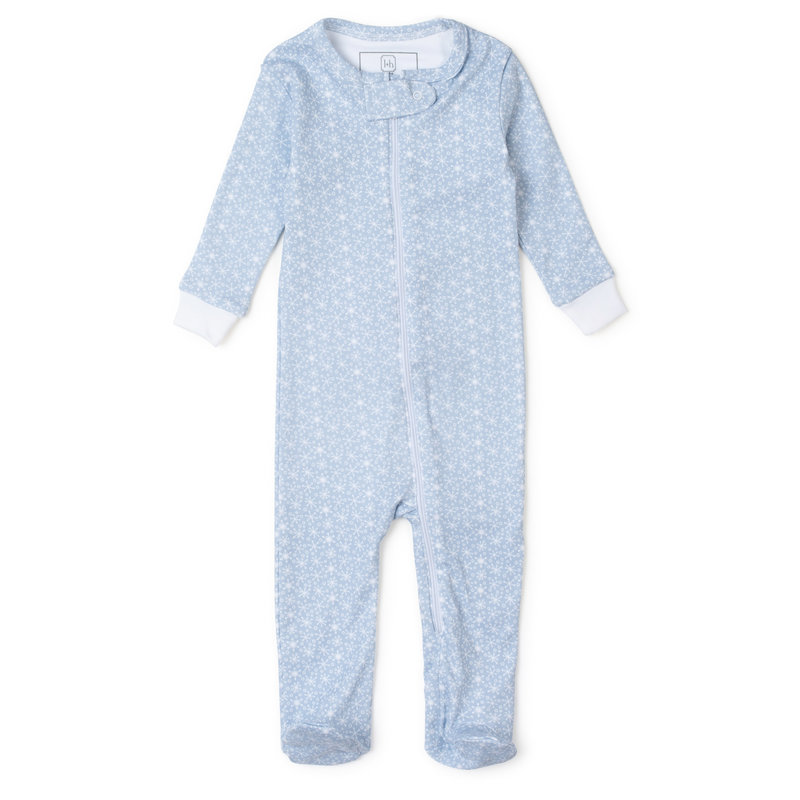 Lila + Hayes Lila + Hayes Blue Snowflakes Parker Zipper Pajama *PRE-ORDER*