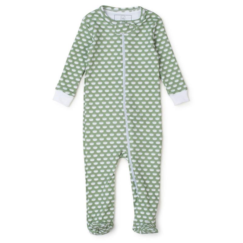Lila + Hayes Lila + Hayes Football Parker Zipper Pajama