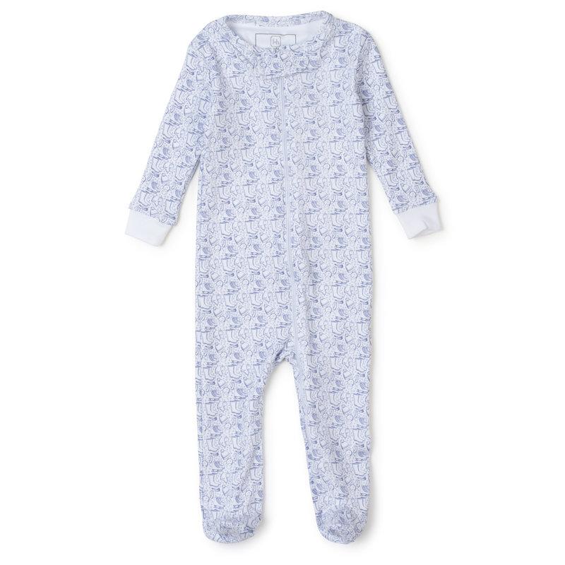 Lila + Hayes Lila + Hayes Blue Bundle Up Parker Zipper Pajama *PRE-ORDER*