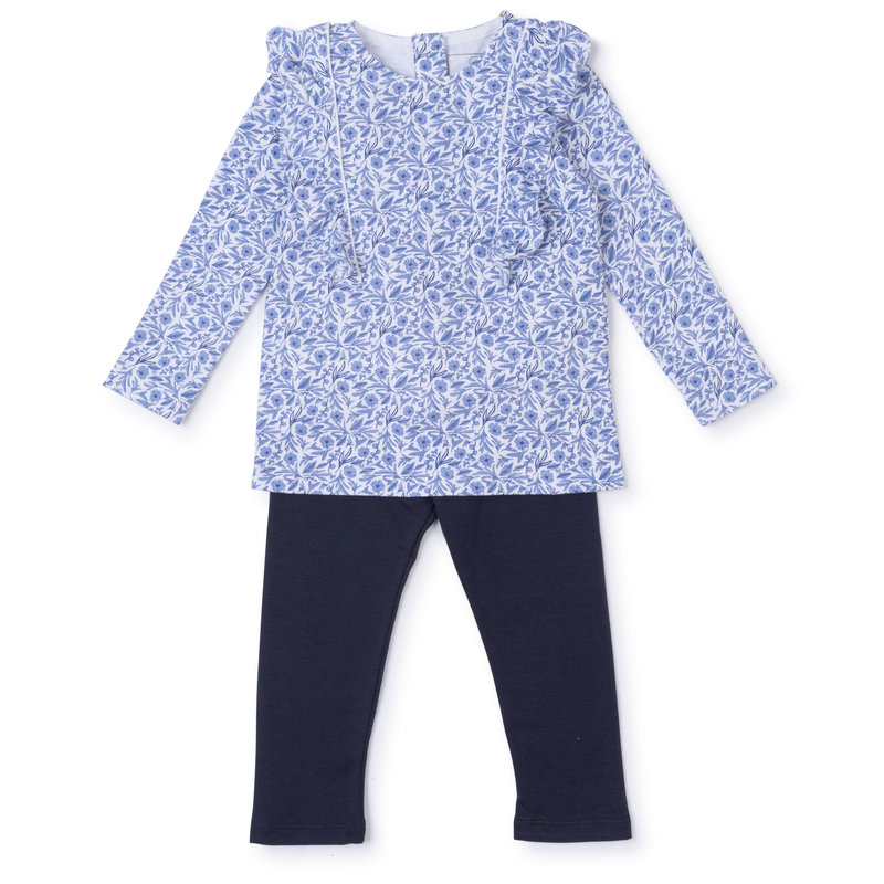 Lila + Hayes Lila + Hayes Blue Blooms Olive Set