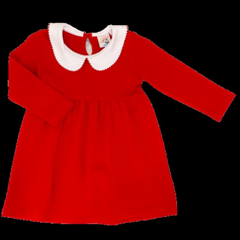 Luigi Luigi Red Collared Dress