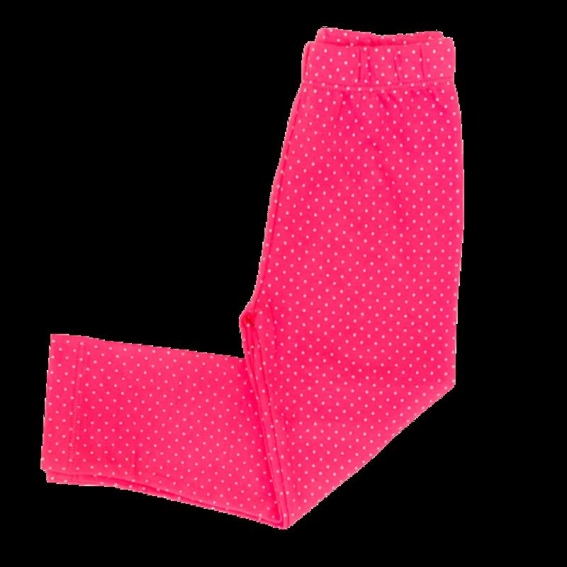 Luigi Luigi Hot Pink/White Dot Print Leggings