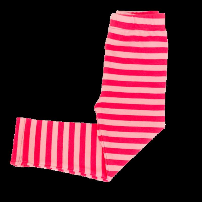 Luigi Luigi Hot Pink/Light Pink Wide Striped Leggings