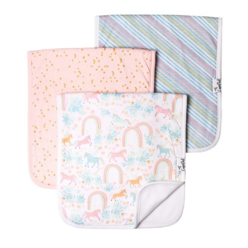 Copper Pearl Copper Pearl Whimsy Burp Cloth Set (3-pack)