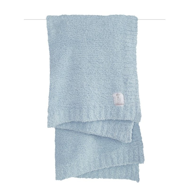 Little Giraffe Little Giraffe Blue Plush Chenille Knit Blanket