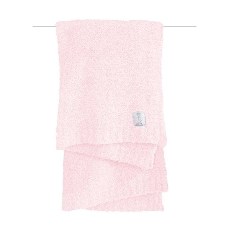 Little Giraffe Little Giraffe Pink Plush Chenille Knit Blanket