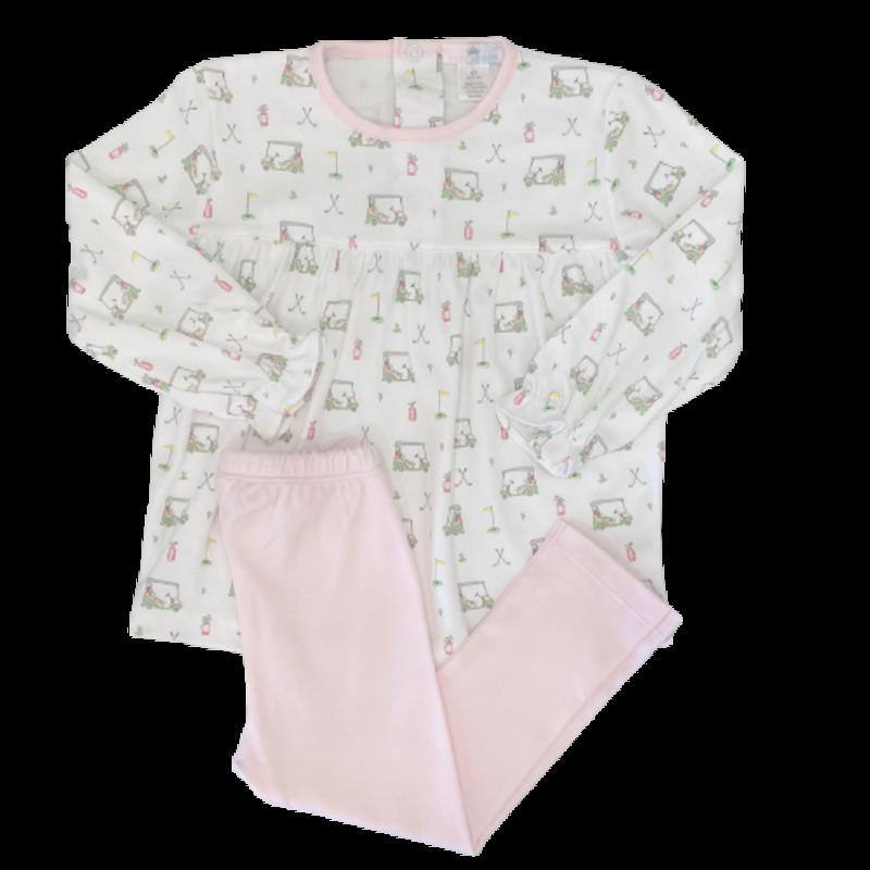 Baby Loren Pink Golf Pant Set