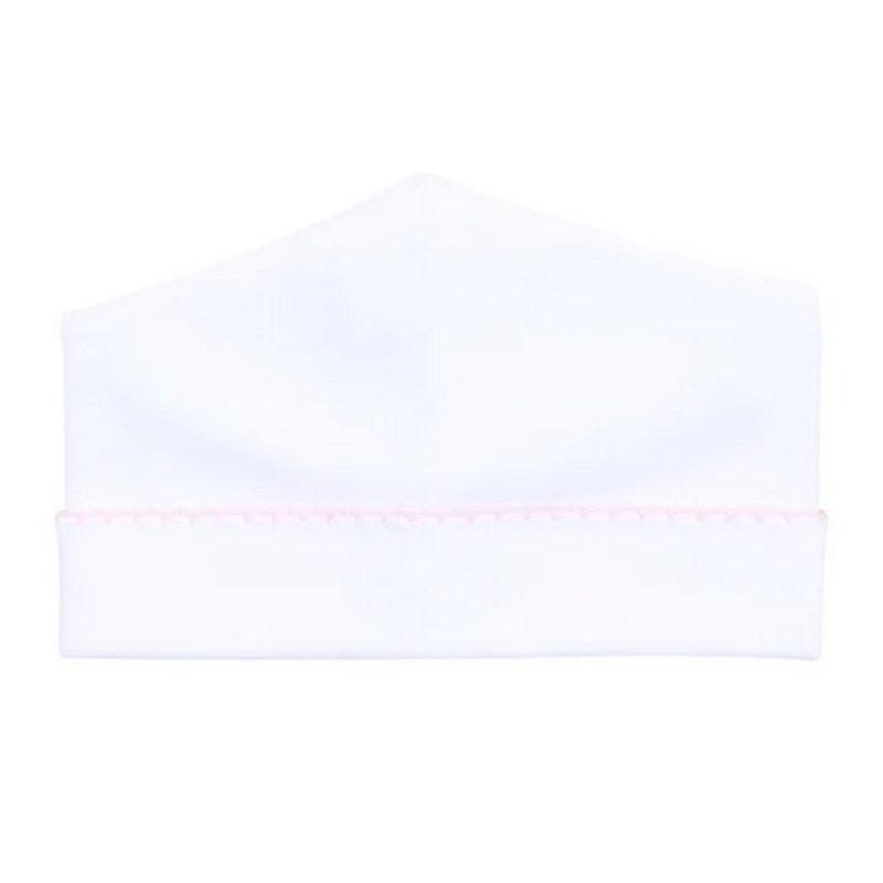 Magnolia Baby Magnolia Baby Essentials Emb White w/Pink Trim Hat