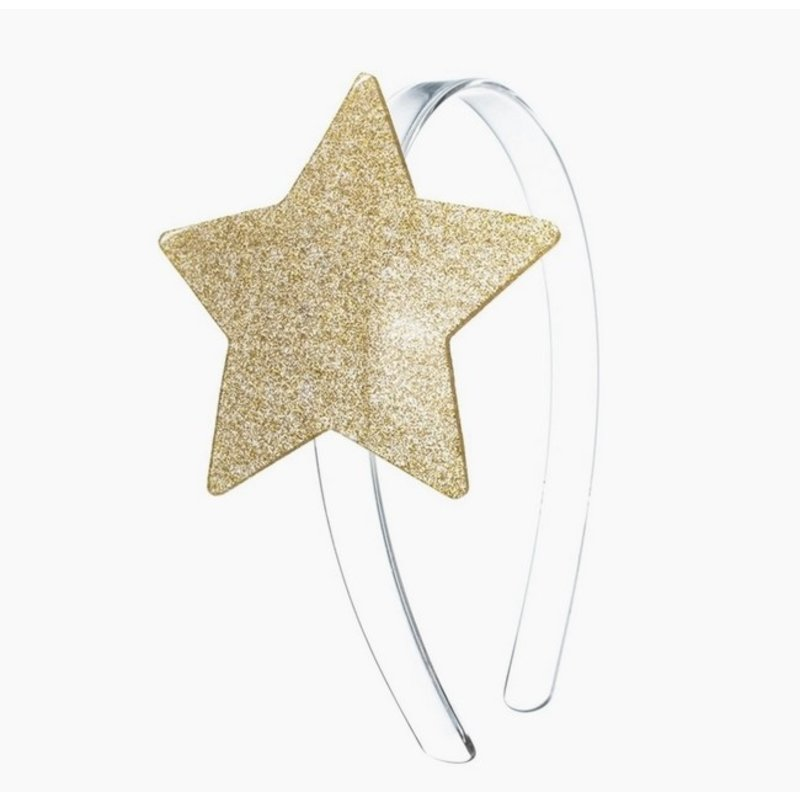 Big Stars Glitter Gold Headband