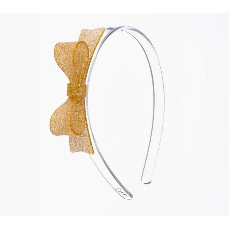Bow Tie Glitter Gold Headband
