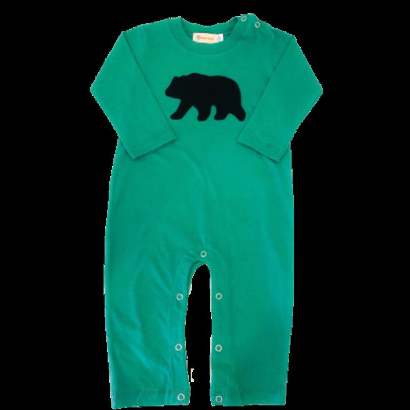 Luigi Luigi Black Bear Romper