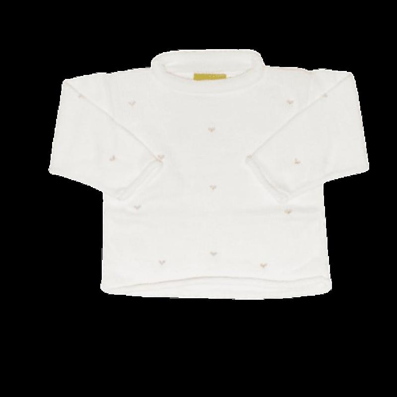 Luigi Luigi Rosebuds Rolled Neck Sweater