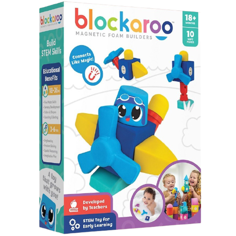 Blockaroo Blockaroo Magnetic Foam Blocks Plane 10-Piece Set