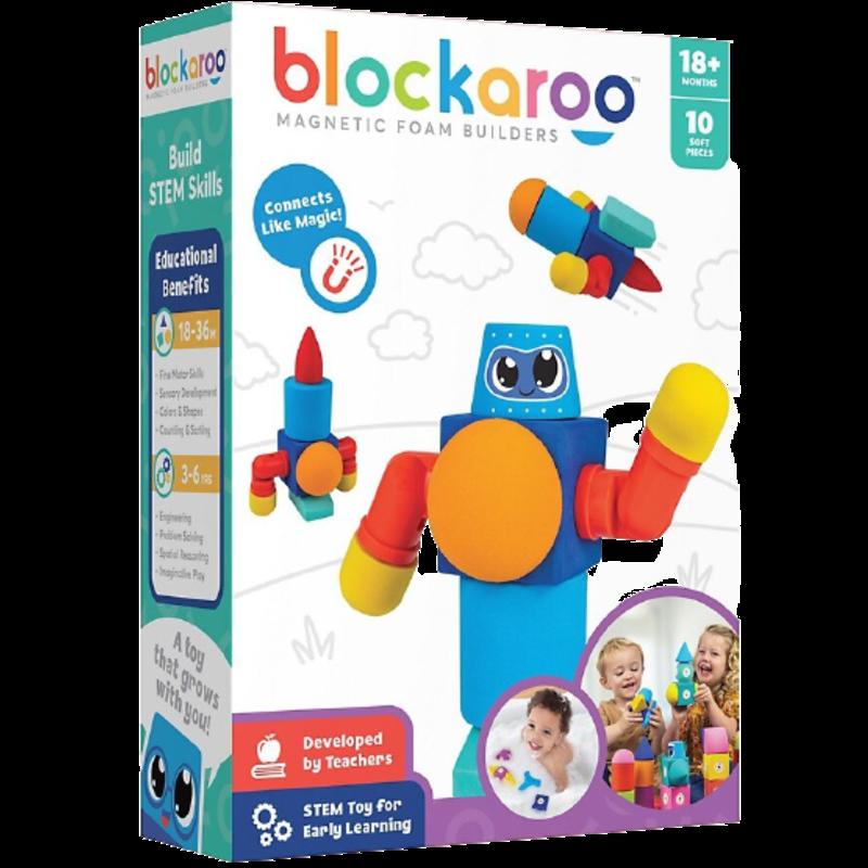 Blockaroo Blockaroo Magnetic Foam Blocks Robot 10pc Set