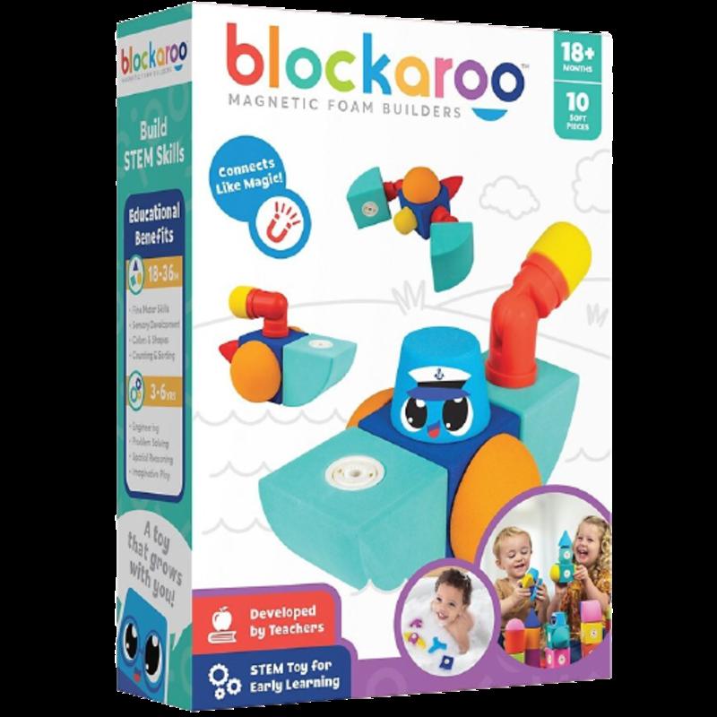 Blockaroo Blockaroo Magnetic Foam Blocks Tug Boat 10pc Set