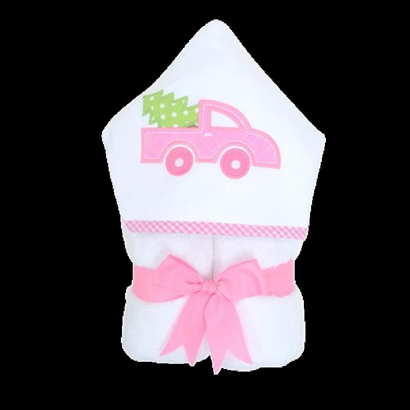 3 Marthas 3 Marthas Pink Christmas Truck Everykid Towel