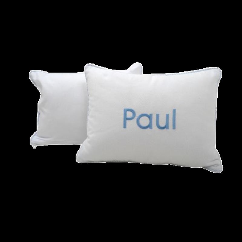 3 Marthas 3 Marthas Blue Seersucker Stripe Baby Pillow