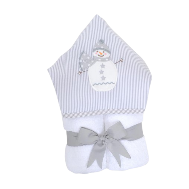 3 Marthas 3 Marthas Gray Snowman Everykid Towel