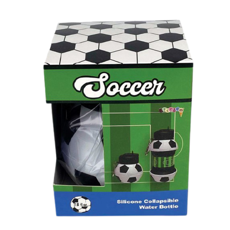 iscream Soccer Collapsible Water Bottle