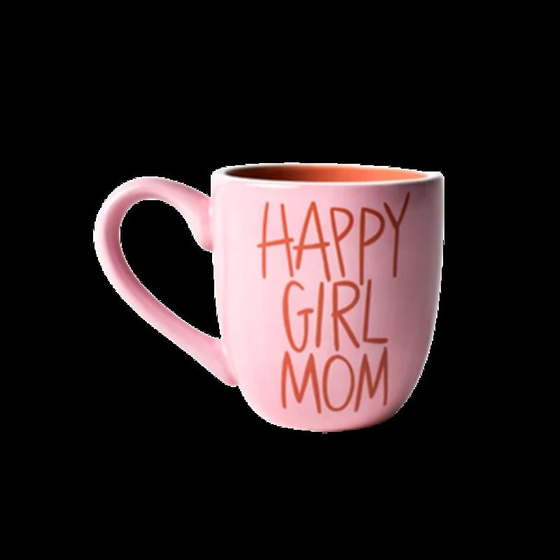 Coton Colors Pink Happy Girl Mom Mug