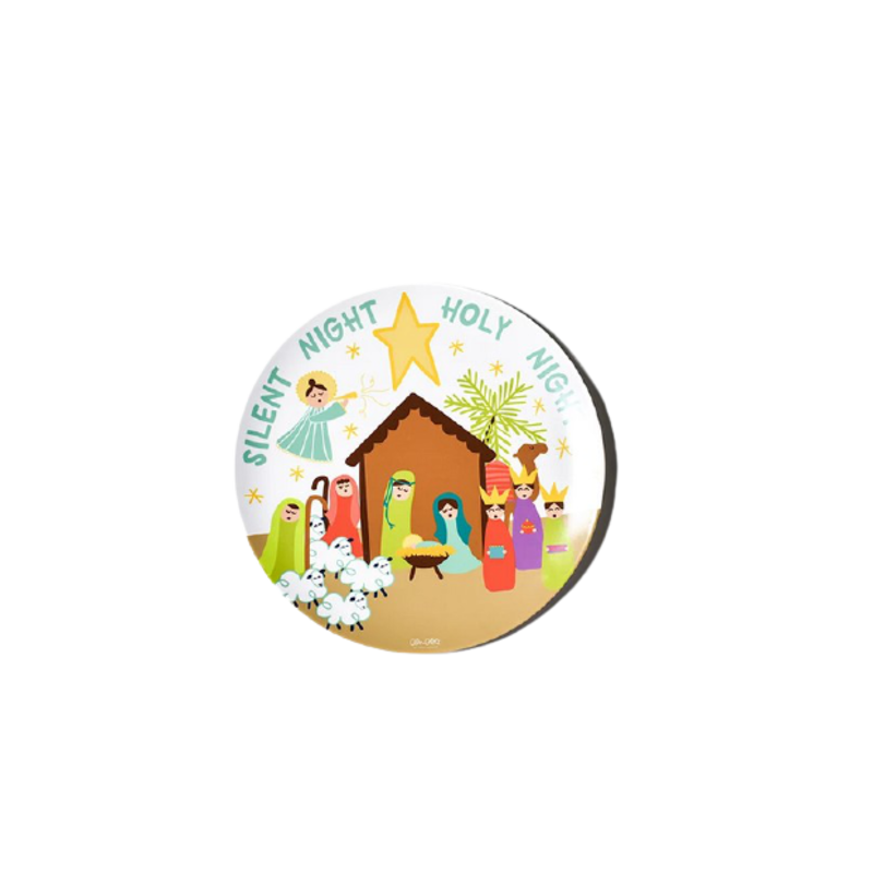 Coton Colors Christmas Nativity Melamine Dinner Plate