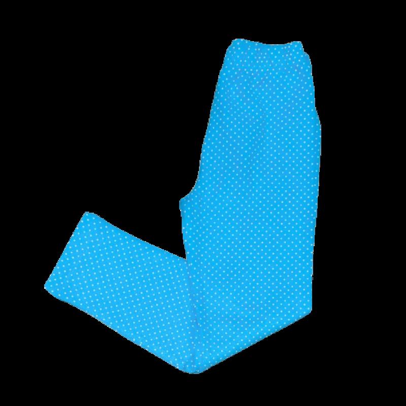 Luigi Luigi Turquoise/White Dot Print Leggings