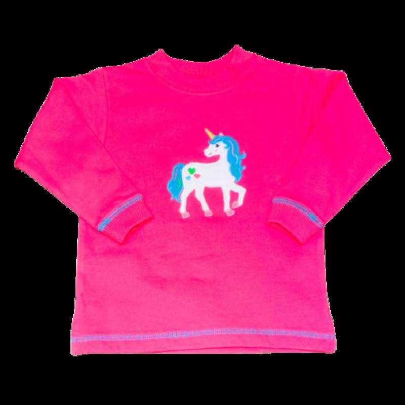 Luigi Luigi Hot Pink Unicorn with Hearts Sweatshirt