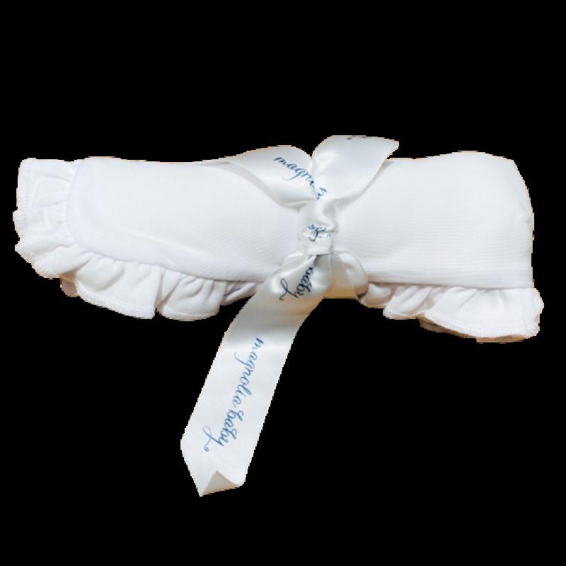 Magnolia Baby Magnolia Baby Essentials Burp Cloth - White Ruffle