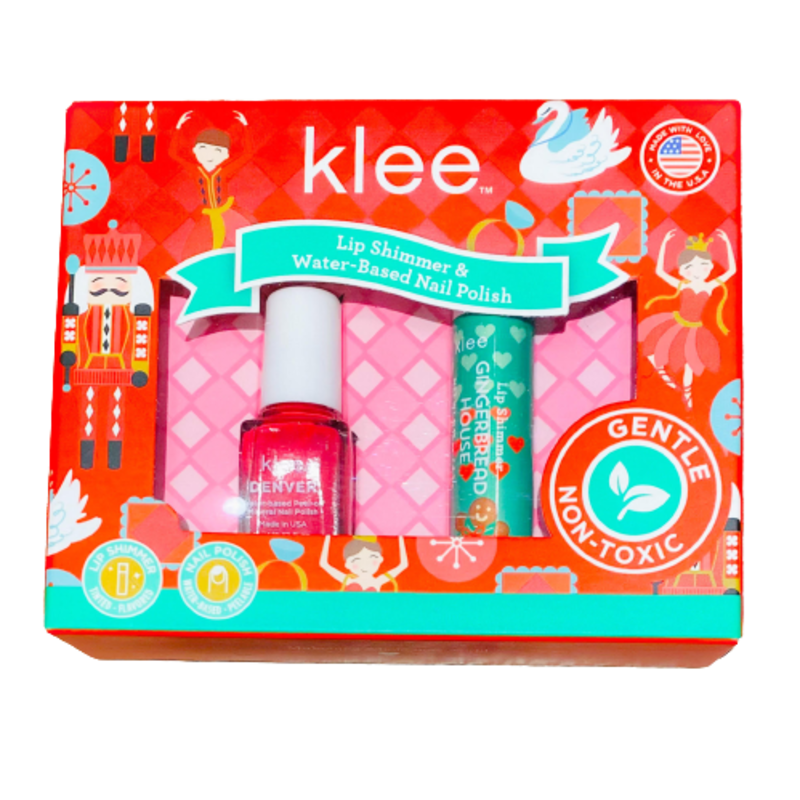 Klee Kids Klee Kids Holiday Nail Polish & Lip Duo -Frosted Joy