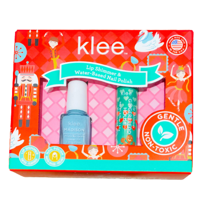 Klee Kids Klee Kids Holiday Nail Polish & Lip Duo - Snowy Delight