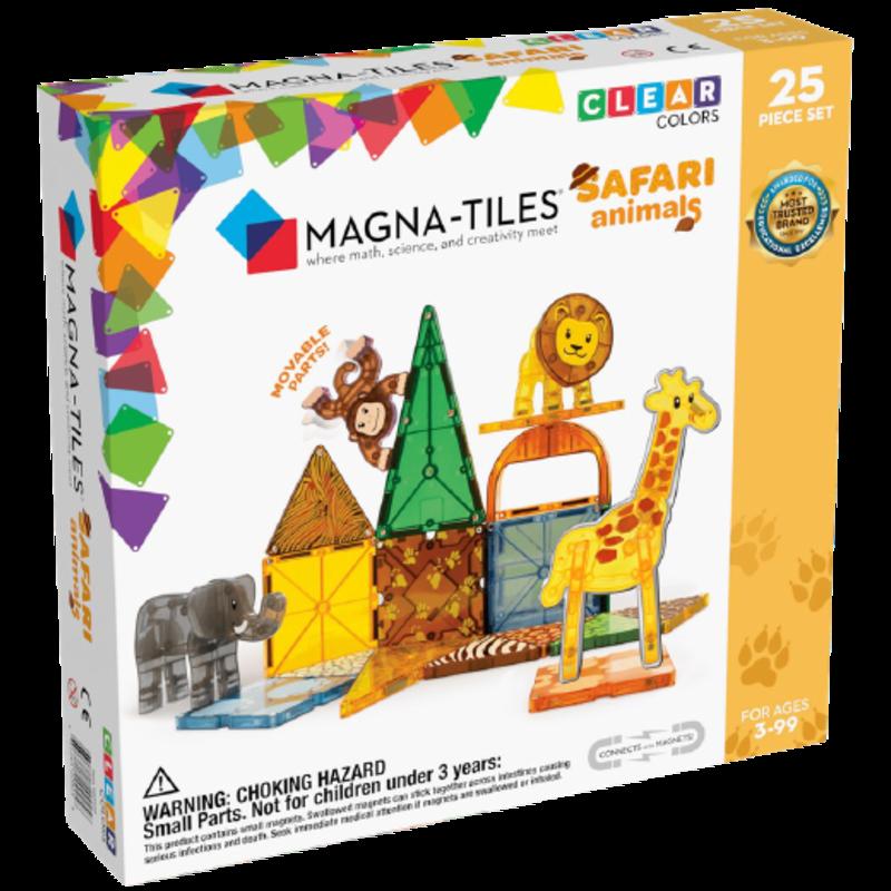 MAGNA-TILES Safari Animals 25 Piece Set