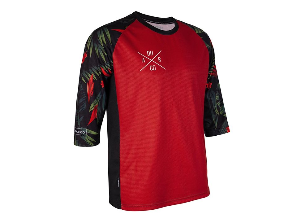 DHARCO CLEARANCE - DHaRCO Men's 3/4 Sleeve Jersey Fast Tropical Small