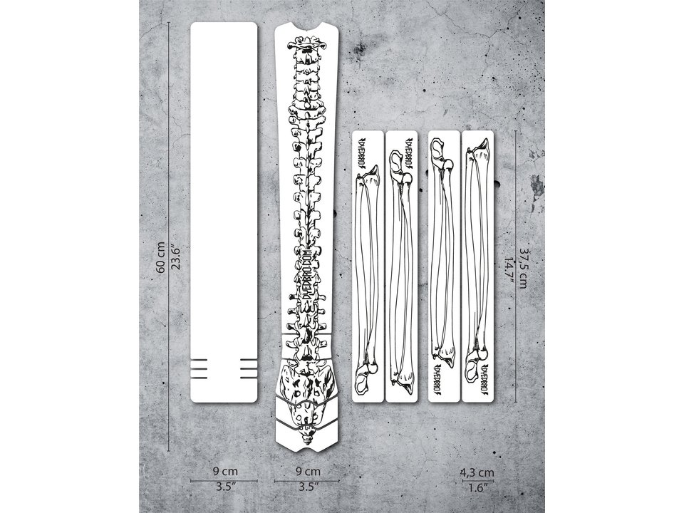 Dyedbro Dyedbro Frame Protection Wrap Bones