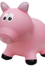 Farm hoppers Animal sauteur cochon rose