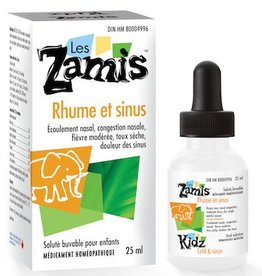 Les Zamis Rhume et sinus 25 ml