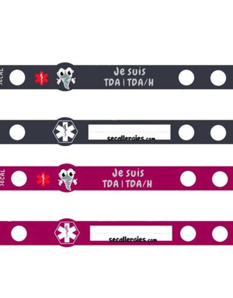 Secallergies Bracelet d'allergie : TDA | TDA/H
