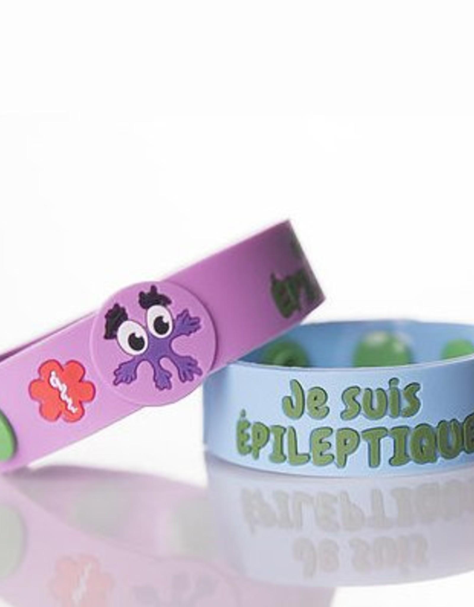 Secallergies Bracelet d'allergie : Épileptique