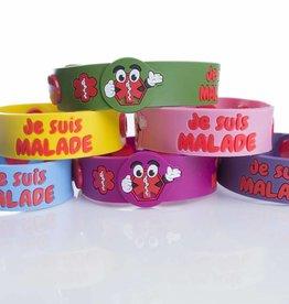 Secallergies Bracelet d'allergie :  Je suis malade