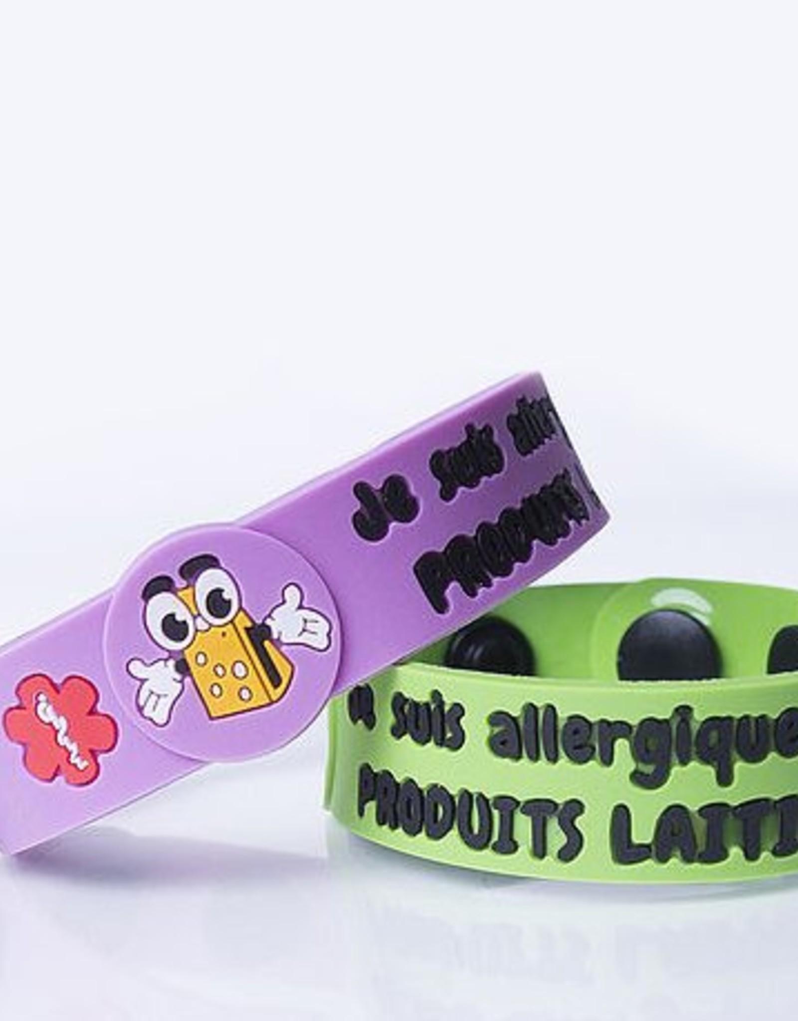 Secallergies Bracelet d'allergie :  Produits laitiers