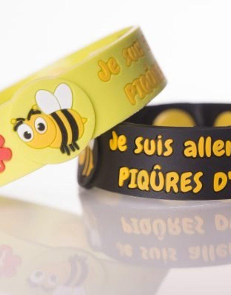 Secallergies Bracelet d'allergie : Piqûres d'abeilles