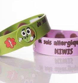 Secallergies Bracelet d'allergie : Kiwis