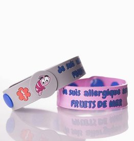 Secallergies Bracelet d'allergie : Fruits de mer