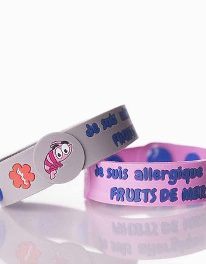 Secallergies Bracelet d'allergie : Fruits de mer