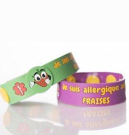 Secallergies Bracelet d'allergie : Fraises