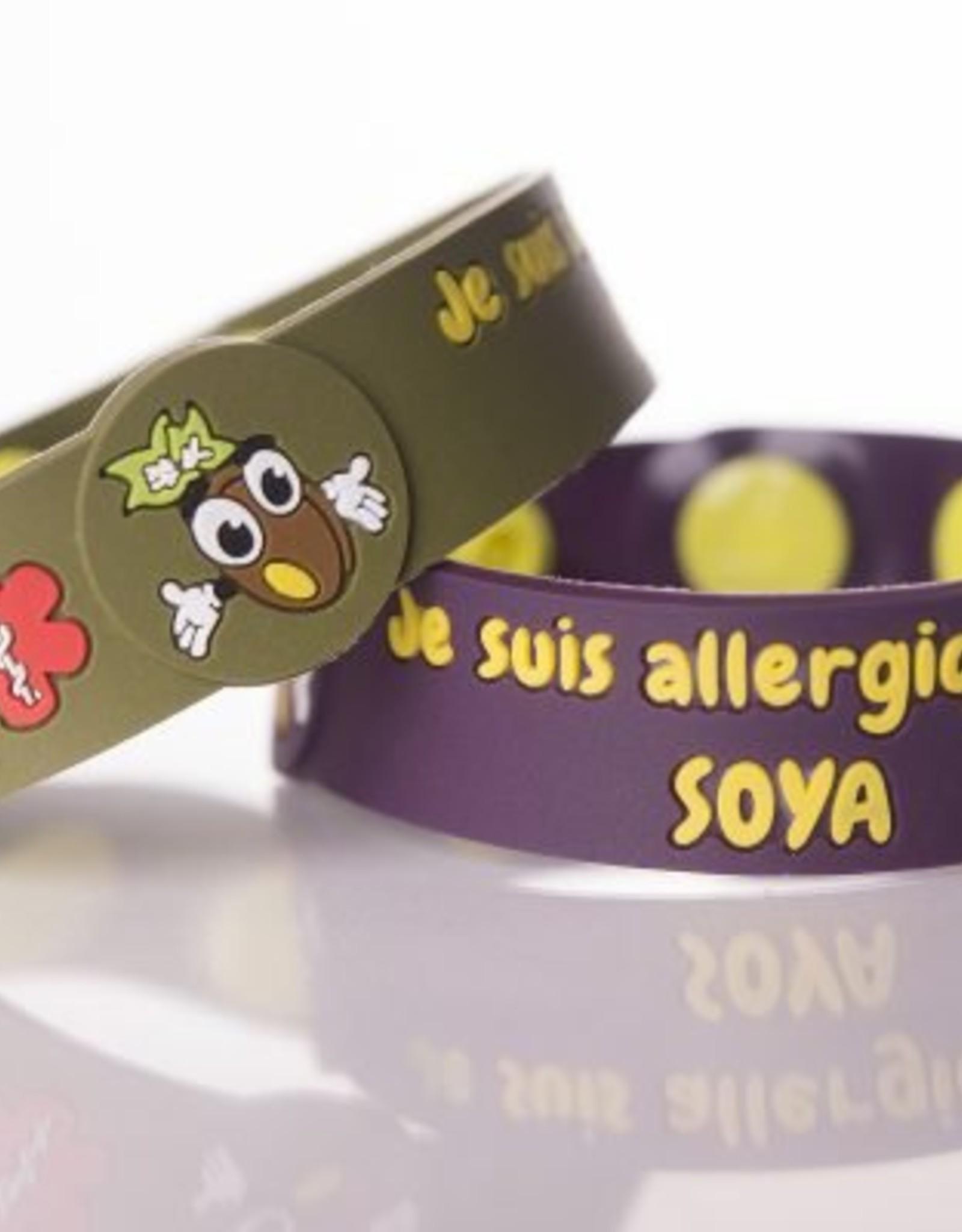 Secallergies Bracelet d'allergie : Soya