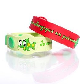 Secallergies Bracelet d'allergie : Poisson
