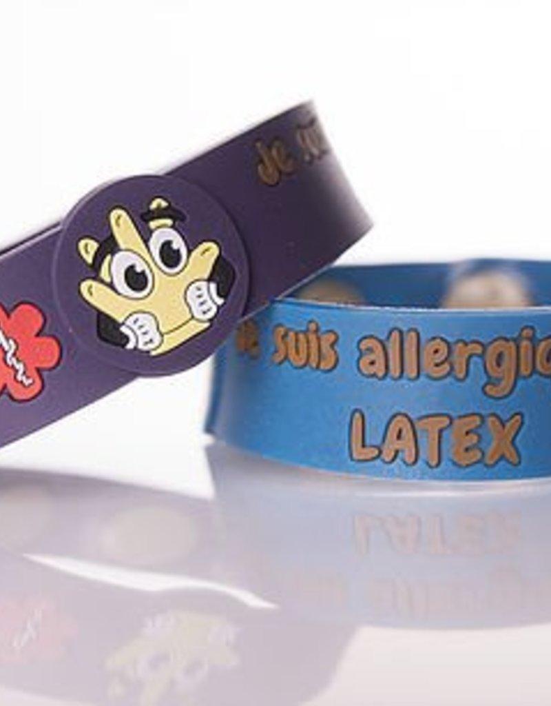 Secallergies Bracelet d'allergie : latex